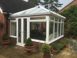 Conservatory being cleaned in Dudley